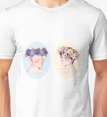 Victuuri Flower Crowns Unisex T-Shirt
