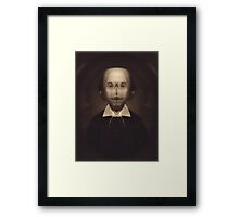 Portrait of the Mutant Shakespeare Framed Print
