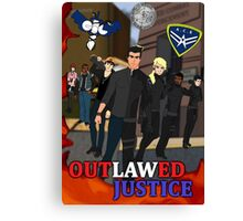 Outlawed Justice Season 1 Poster Canvas Print