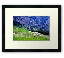 High up Mt. Parnassus, above Delphi, Greece 1960 Framed Print