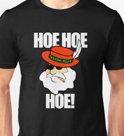 Hoe Hoe Hoe! Pimp Santa Smoking Sunglasses Unisex T-Shirt