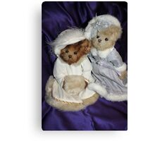 Two Beary Fine Ladies Canvas Print