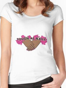 Tough as Nails [Hand tone 2] Women's Fitted Scoop T-Shirt