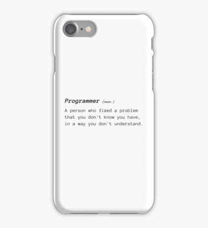 Funny Definition of Programmer iPhone Case/Skin
