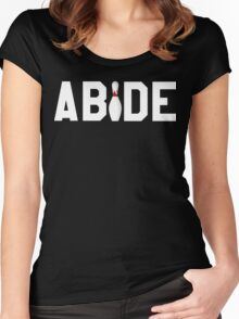 Abide Big Lebowski Women's Fitted Scoop T-Shirt