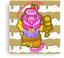 Majin's Chocolate Buu Cakes Canvas Print