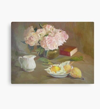 still life painting Canvas Print