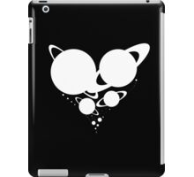 Solar System Heart (to scale) white version iPad Case/Skin