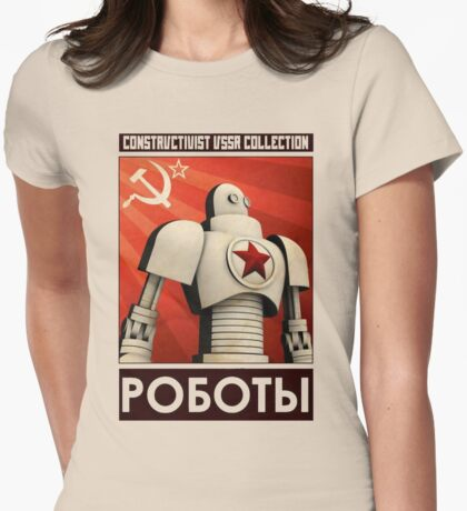 robot ussr steampunk Womens Fitted T-Shirt