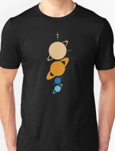 Planets And Moons To Scale T-Shirt