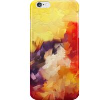 Abstract impressionist red yellow purple iPhone Case/Skin