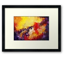 Abstract impressionist red yellow purple Framed Print
