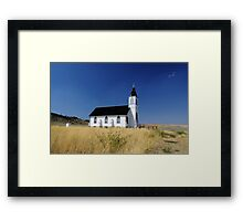 Montana Country Church Framed Print