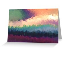 abstract expressionist landscape green Greeting Card