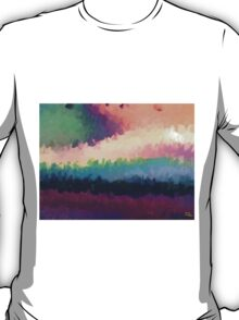 abstract expressionist landscape green T-Shirt