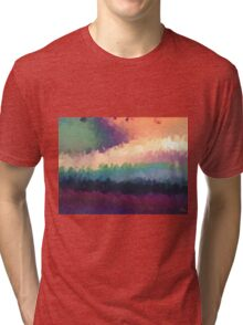 abstract expressionist landscape green Tri-blend T-Shirt
