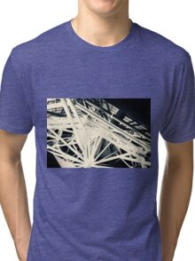 Spider Roof Struts Abstract Tri-blend T-Shirt