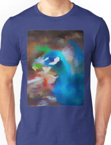 Blue Head of a Peacock Unisex T-Shirt