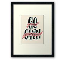 Be free Framed Print