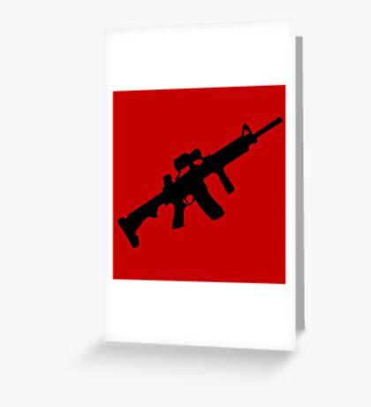 sniper rifle gun game Greeting Card