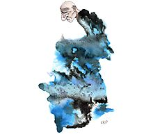 Black and Blue Ugly Man Photographic Print