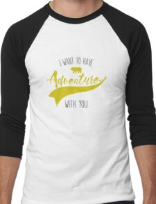 Adventure quote Men's Baseball ¾ T-Shirt