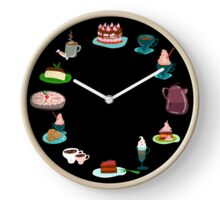 Cake and Coffee forever Clocks Clock