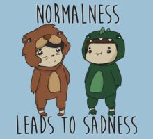 Normalness leads to sadness- Danosaur and Phillion by happypandaparty