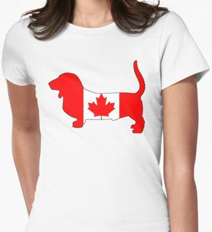 Canada Basset Hound Womens Fitted T-Shirt