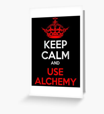 Keep Calm - Fullmetal Alchemist Greeting Card
