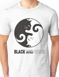 Black and White Unisex T-Shirt