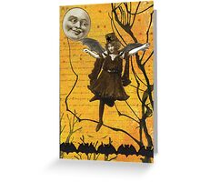 Halloween Sky Waltz Greeting Card