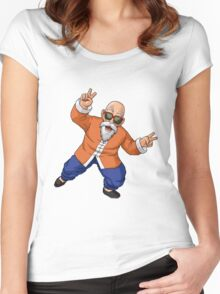 Master Roshi Women's Fitted Scoop T-Shirt