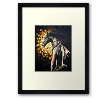 Man/Horsepower Framed Print