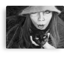 kitty kat magic Canvas Print