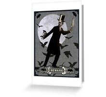 The Murderous Count Greeting Card