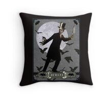 The Murderous Count Throw Pillow