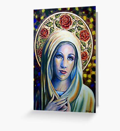 Holy Love of Mary Greeting Card