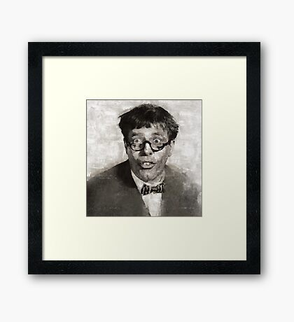 Jerry Lewis, Actor and Comedian Framed Print