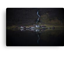 River that vanishes Canvas Print