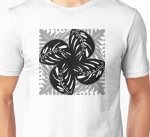 Tropical Leaves B&W, Gray Tessellation Unisex T-Shirt