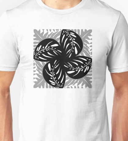 Tropical Leaves B&W, Gray Tessellation Unisex T-Shirt