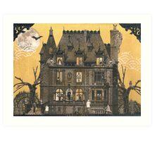 Moribund Manor - Haunted House Art Print