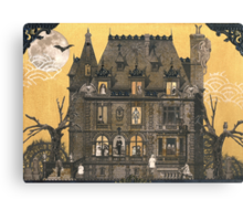 Moribund Manor - Haunted House Canvas Print