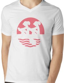 Rowing Girls Mens V-Neck T-Shirt