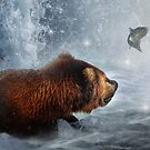 Fishing Grizzly  by Cliff Vestergaard