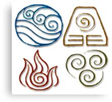 Avatar Bending Symbols Canvas Print