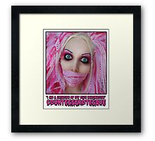 Pink Dolly | CountessGrotesque Framed Print
