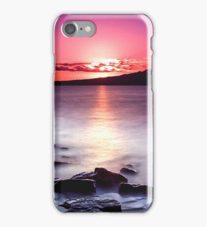 Magenta Gazes On Silver Mist iPhone Case/Skin