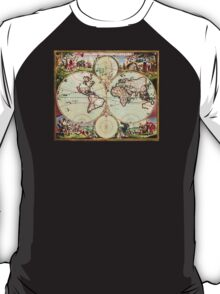 World Map 1665 T-Shirt